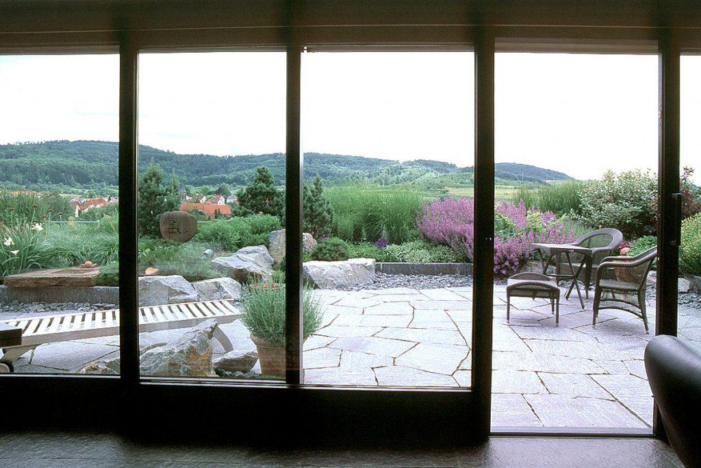 Dachgarten mit schönem Ausblick